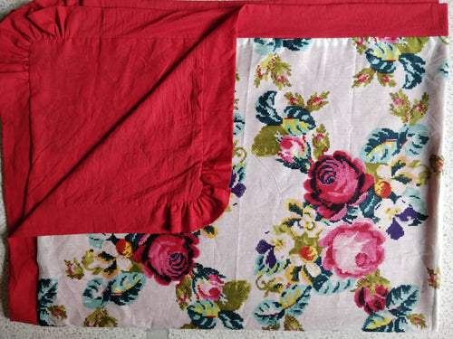 Floral Paisley Blanket with Red Trim - Kids Wholesale Boutique Clothing, Blanket - Girls Dresses, Yo Baby Wholesale - Yo Baby