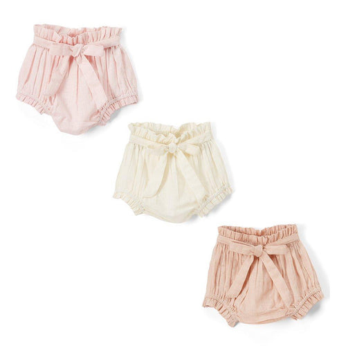 Set of 3 - Short - Style Diaper Covers with Belt - Kids Wholesale Boutique Clothing, diaper covers - Girls Dresses, Yo Baby Wholesale - Yo Baby