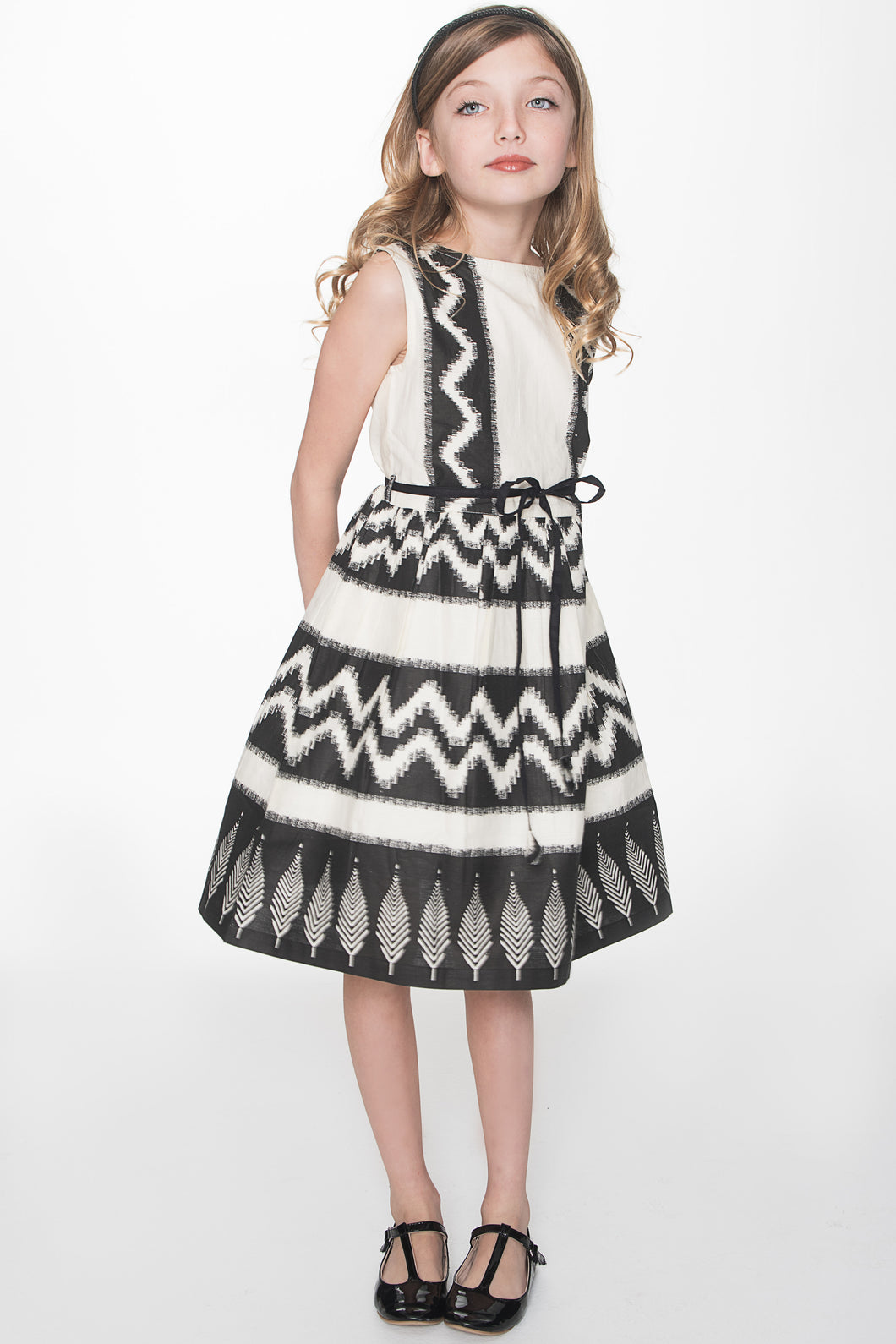 Black Tribal Print Dress - Kids Wholesale Boutique Clothing, Dress - Girls Dresses, Yo Baby Wholesale - Yo Baby