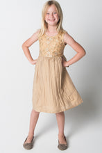 Gold Embroidered Shift Dress - Kids Wholesale Boutique Clothing, Dress - Girls Dresses, Yo Baby Wholesale - Yo Baby