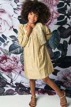 Cream ands Silver Shift Dress and Embroidered Jacket Set - Kids Wholesale Boutique Clothing, Dress - Girls Dresses, Yo Baby Wholesale - Yo Baby