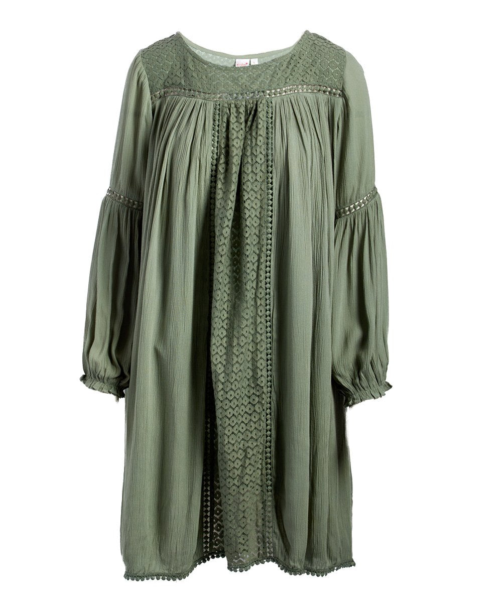 Sage Net Detail Dress