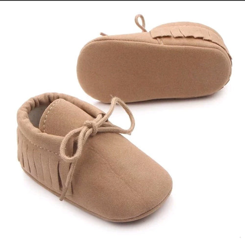 Unisex fringe moccasins - Beige - Kids Wholesale Boutique Clothing,  - Girls Dresses, Yo Baby Wholesale - Yo Baby