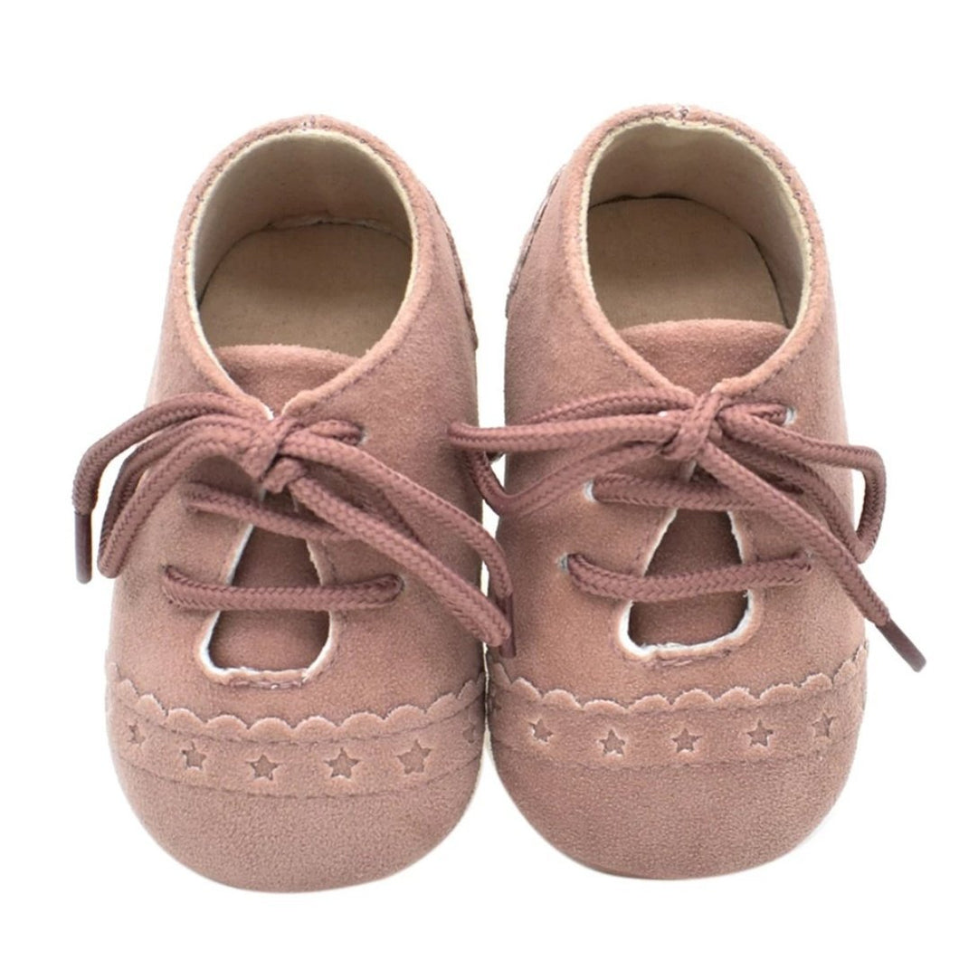 Unisex mock suede moccasins - Blush - Kids Wholesale Boutique Clothing,  - Girls Dresses, Yo Baby Wholesale - Yo Baby