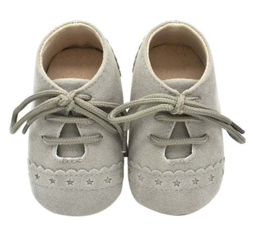 Unisex mock suede moccasins - Grey - Kids Wholesale Boutique Clothing,  - Girls Dresses, Yo Baby Wholesale - Yo Baby