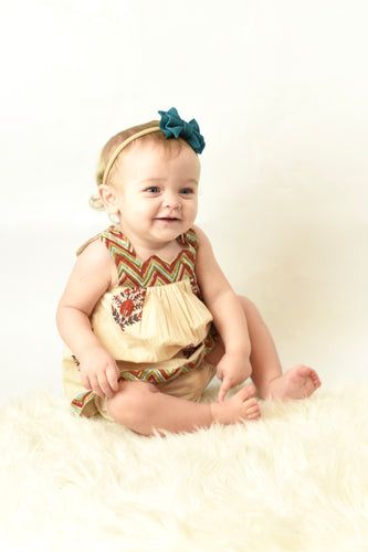 Chevron And Floral Sweetheart Neck Dress And Diaper Cover - Kids Wholesale Boutique Clothing, 2-pc. set - Girls Dresses, Yo Baby Wholesale - Yo Baby