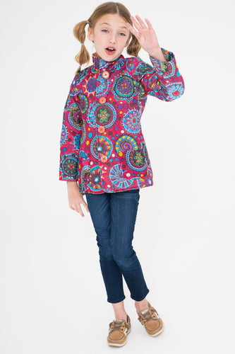 Blue Floral & Fuchsia Reversible Jacket