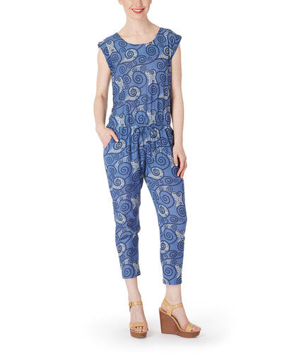Blue Whirl-wind Jumpsuit - Kids Wholesale Boutique Clothing, Dress - Girls Dresses, Yo Baby Wholesale - Yo Baby