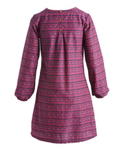 Purple Geometric Pleated Shift Dress - Kids Wholesale Boutique Clothing, Dress - Girls Dresses, Yo Baby Wholesale - Yo Baby