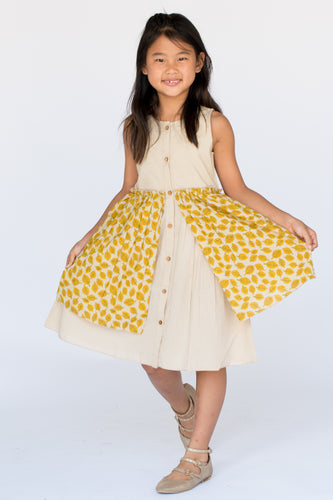 Autumn Leaves Layered Dress - Kids Wholesale Boutique Clothing, Dress - Girls Dresses, Yo Baby Wholesale - Yo Baby
