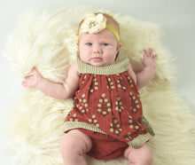 Maroon Pin Stipe Detail Sleeveless Infant Dress with Matching Bloomer - Kids Wholesale Boutique Clothing, Dress - Girls Dresses, Yo Baby Wholesale - Yo Baby