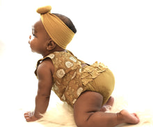 Limited Edition - Ruffled Mustard & Brown Top With Diaper Cover Set