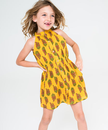 Sunshine Yellow Dress - Kids Wholesale Boutique Clothing, Dress - Girls Dresses, Yo Baby Wholesale - Yo Baby