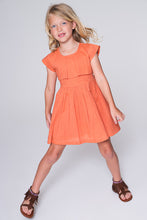 Peach Flounce Dress with Back Tie - Kids Wholesale Boutique Clothing, Dress - Girls Dresses, Yo Baby Wholesale - Yo Baby