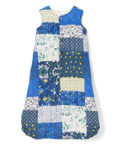 Blue Patchwork Sleeping Sack - Infant - Kids Wholesale Boutique Clothing,  - Girls Dresses, Yo Baby Wholesale - Yo Baby