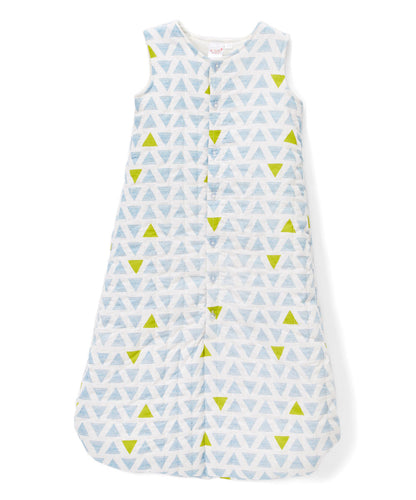 Blue & Yellow Triangles Sleeping Sack - Infant - Kids Wholesale Boutique Clothing,  - Girls Dresses, Yo Baby Wholesale - Yo Baby