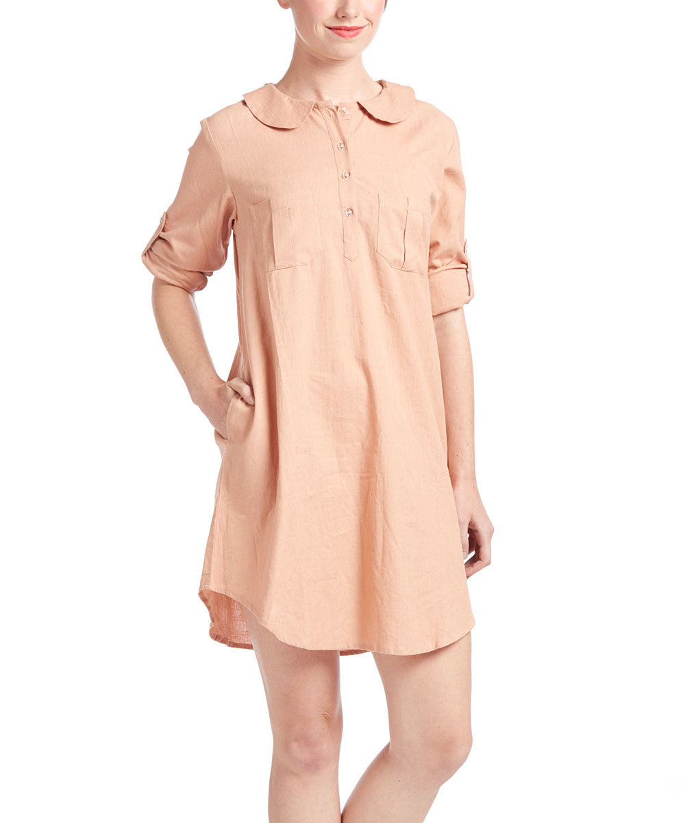 Blush Shirt Dress - Kids Wholesale Boutique Clothing, Dress - Girls Dresses, Yo Baby Wholesale - Yo Baby
