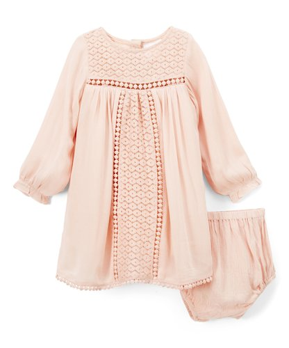 Baby Pink Lace Detail Dress - Kids Wholesale Boutique Clothing, Dress - Girls Dresses, Yo Baby Wholesale - Yo Baby