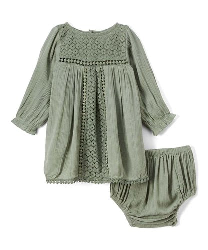 Sea Foam Green Lace Infant Dress - Kids Wholesale Boutique Clothing, Dress - Girls Dresses, Yo Baby Wholesale - Yo Baby
