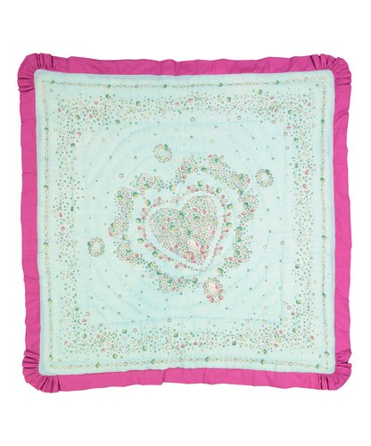 Teal Princess Diamonds Blanket with Pink Trim - Kids Wholesale Boutique Clothing, Blanket - Girls Dresses, Yo Baby Wholesale - Yo Baby