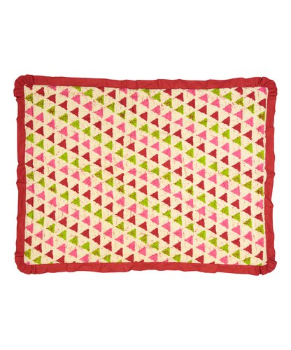 Geometric Blanket with Red Trim - Kids Wholesale Boutique Clothing, Blanket - Girls Dresses, Yo Baby Wholesale - Yo Baby