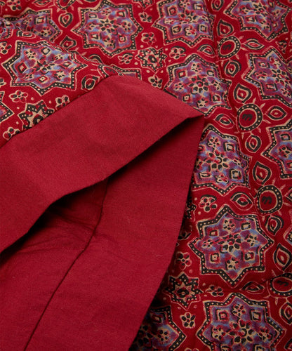 Maroon & Red Abstract Quilted Blanket