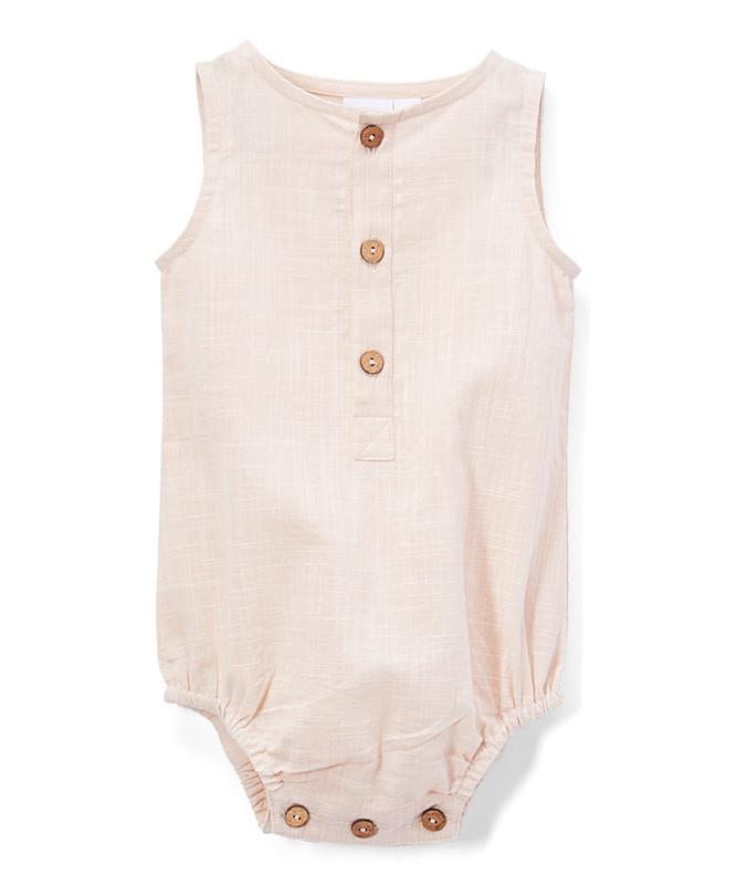 Blush Unisex Sleeveless Romper