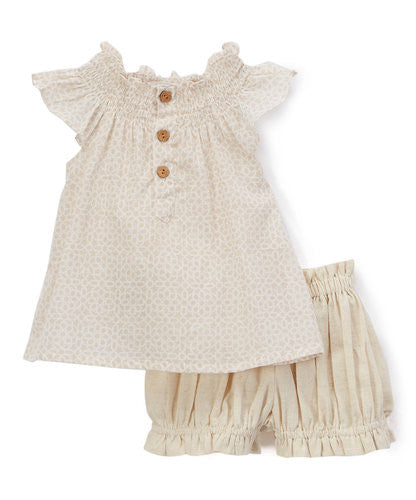 Neutral Top and Shorts 2pc.set Top and Bottom - Kids Wholesale Boutique Clothing, 2-pc. set - Girls Dresses, Yo Baby Wholesale - Yo Baby
