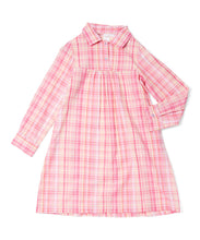 Pink Lurex Checks Shirt Dress - Kids Wholesale Boutique Clothing, Shirt-Dress - Girls Dresses, Yo Baby Wholesale - Yo Baby