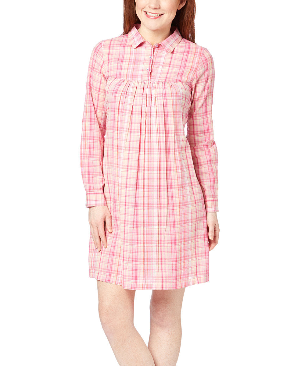 Pink Checks Dress - Kids Wholesale Boutique Clothing, Shirt-Dress - Girls Dresses, Yo Baby Wholesale - Yo Baby