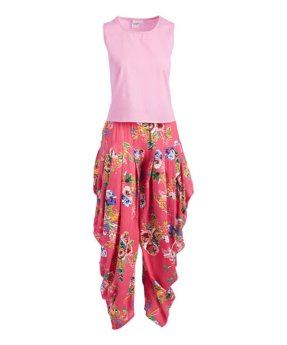 Pink Harem Pants and Top 2pc.Set - Kids Wholesale Boutique Clothing, Dress - Girls Dresses, Yo Baby Wholesale - Yo Baby