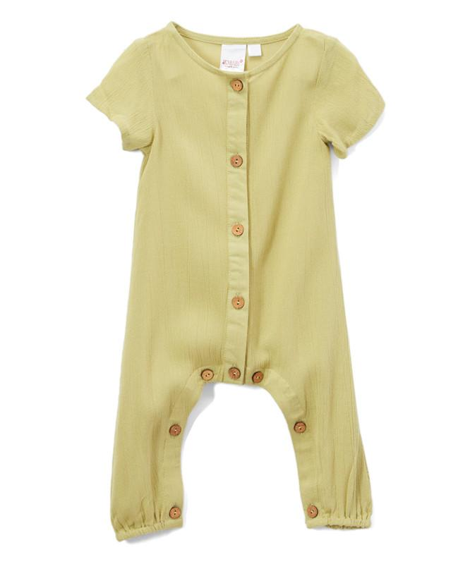 Parrot Green Unisex Infant Romper