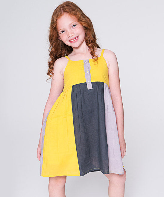 Tri-Color Dress - Kids Wholesale Boutique Clothing, Dress - Girls Dresses, Yo Baby Wholesale - Yo Baby