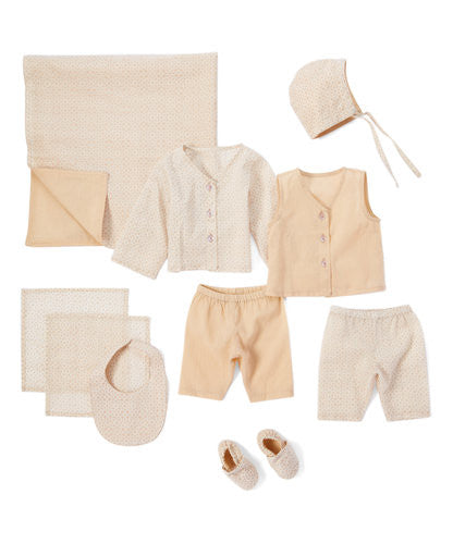 10pc. Neutral Layette Set - Kids Wholesale Boutique Clothing, 10-pc. set - Girls Dresses, Yo Baby Wholesale - Yo Baby