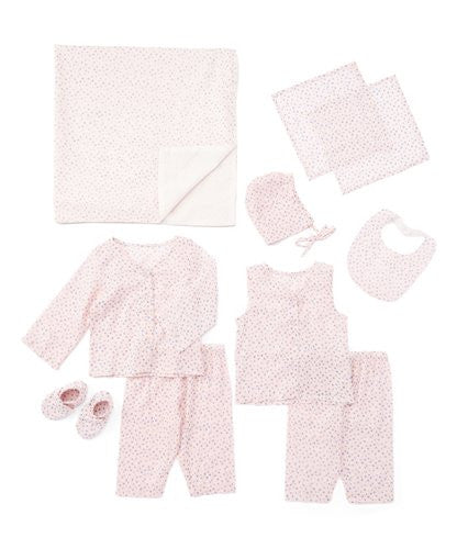 10pc. Light Pink and Grey Star Print Layette Set - Kids Wholesale Boutique Clothing, 10-pc. set - Girls Dresses, Yo Baby Wholesale - Yo Baby
