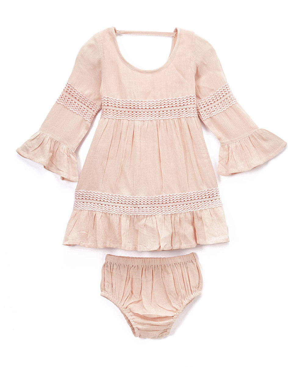 Blush Lace Infant Dress - Kids Wholesale Boutique Clothing, Dress - Girls Dresses, Yo Baby Wholesale - Yo Baby