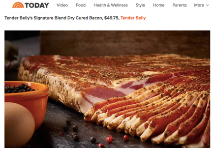 Photo ofTender Belly on The Today Show: Top Mail Order Food Giftsby Tender Belly