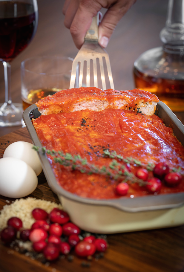 MAMA'S PORK MEATLOAF WITH CRANBERRY KETCHUP