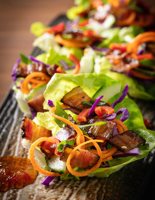 Thai Lettuce and Bacon Wrap Recipe