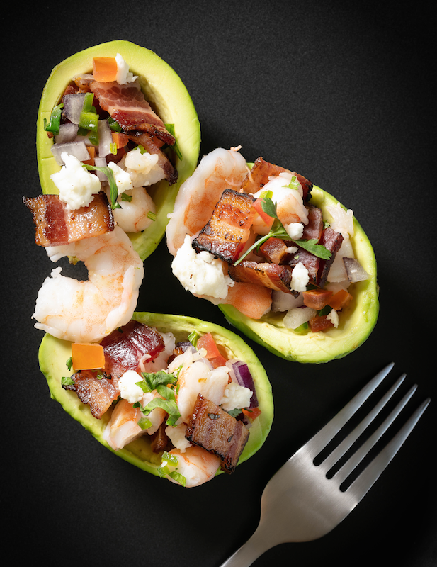 Habanero Bacon-Shrimp Stuffed Avocado Recipe