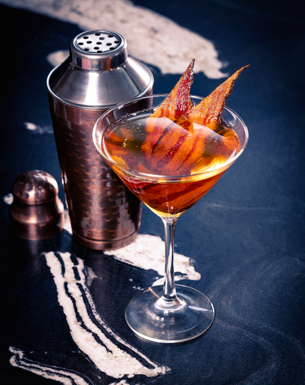 Sparkling Tender Belly Bacon Martini
