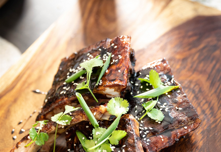 Photo ofTeriyaki-Glazed Tender Belly Baby Back Ribs Recipeby Tender Belly