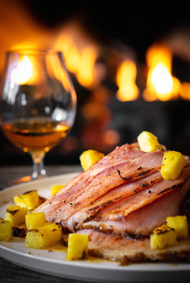 BAKED HAM RECIPE: PINEAPPLE-JERK RUBBED HAM
