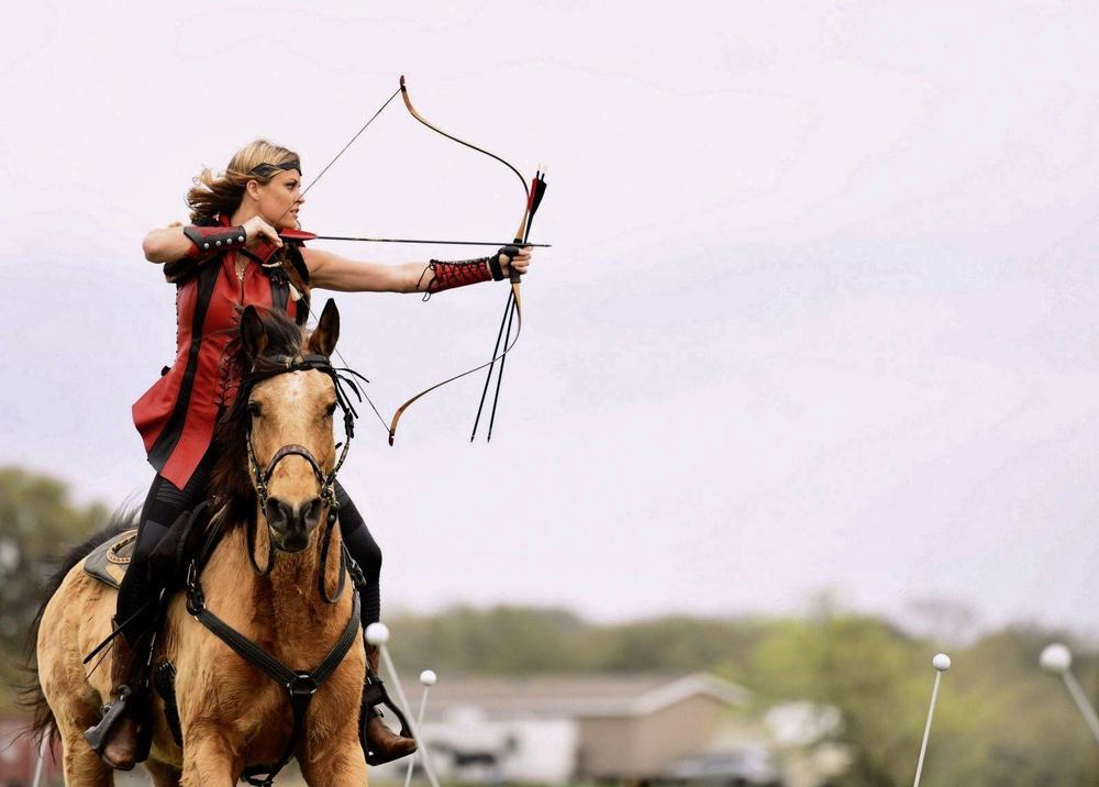 Photo of    Mounted Archer  Erin Troyk