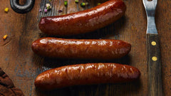 Gourmet cooked Pork Franks image. BBQ & Ribs package.