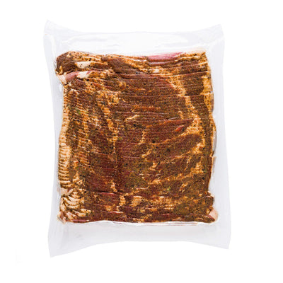 Habanero Dry-Rub Uncured Bacon, Sliced Slab - Tender Belly