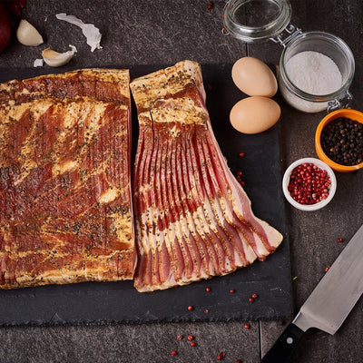 Signature Dry-Rub Cured Bacon Slab - Tender Belly