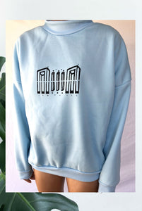 ☯Printed Baby Blue Sweater☯