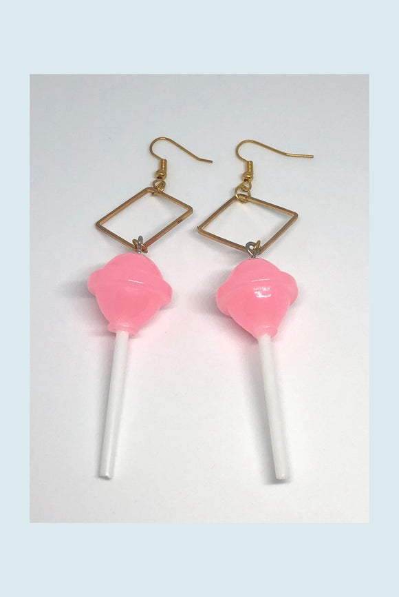 ☯Pink Lollipop Earrings☯