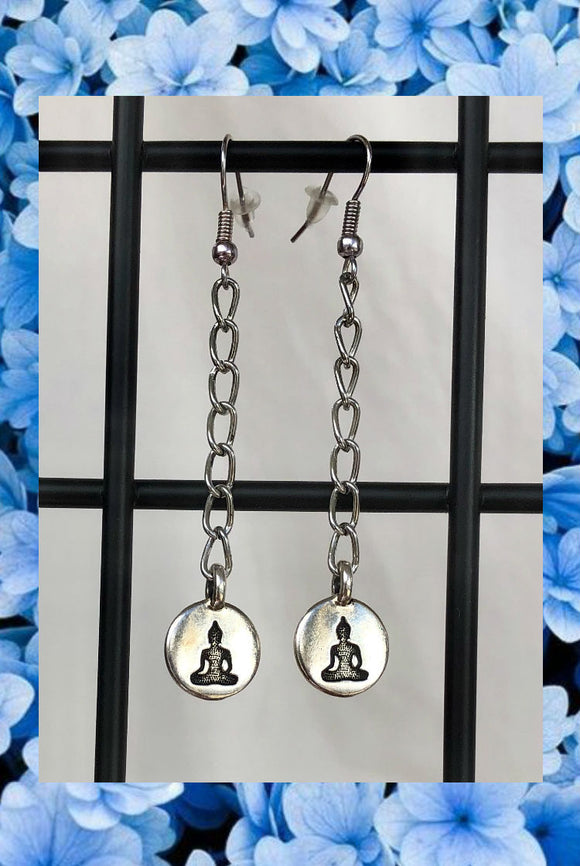 ☯Chain Buddha Earrings☯